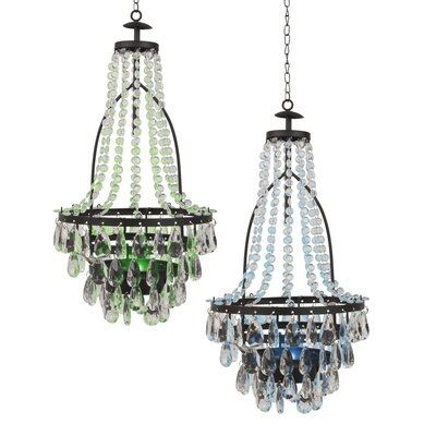 Baggs Solar 2-Light LED Crystal Chandelier