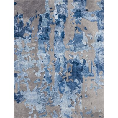 Machen Hand-Tufted Blue/Gray Area Rug Rug Size: Rectangle 23 x 3