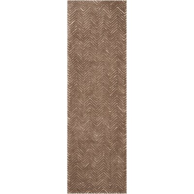 Manuel Deco Hand-Tufted Taupe Area Rug Rug Size: Runner 23 x 76