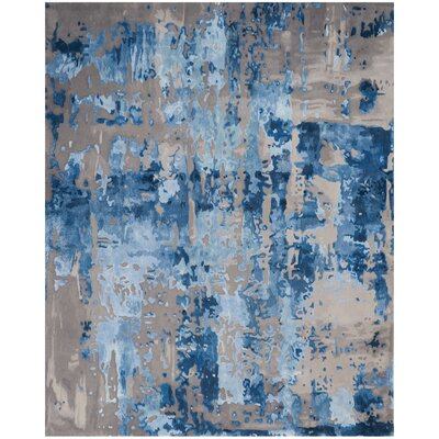 Machen Hand-Tufted Blue/Gray Area Rug Rug Size: Rectangle 79 x 99