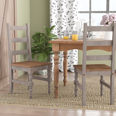 Pinard Solid Wood Dining Chair Finish: Gray Wash