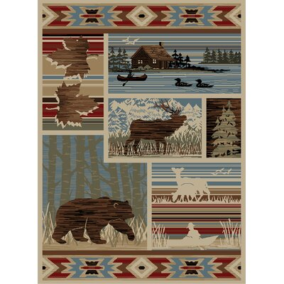 Windsor Lane Maple Valley Brown/Blue Area Rug Rug Size: Runner 2 x 8