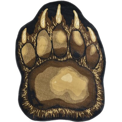 Windsor Lane Bear Trail Brown Area Rug Rug Size: Rectangle 5 x 7