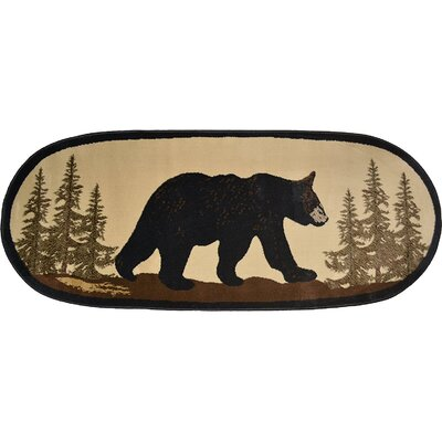 Windsor Lane Bearwalk Tan Indoor Area Rug
