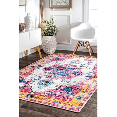 Penrod Pink Area Rug Rug Size: Rectangle 8 x 10