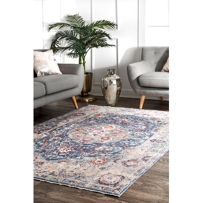 Perdue Navy Area Rug Rug Size: Rectangle 53 x 77