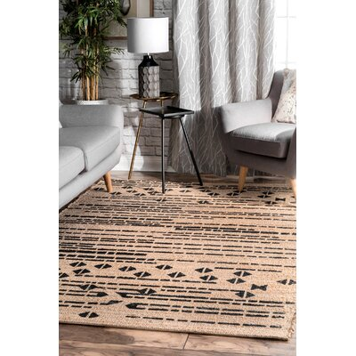 Manke Hand-Tufted Brown Area Rug Rug Size: Rectangle 5 x 8