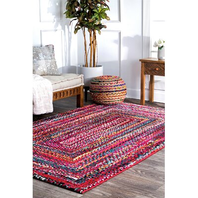 Pennsport Pink/Red Area Rug Rug Size: Rectangle 5 x 8