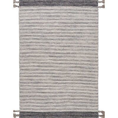 Mannino Hand-Woven Gray Area Rug Rug Size: Rectangle 76 x 96