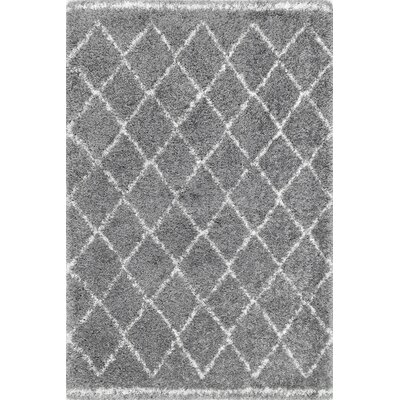 Hance Gray Area Rug Rug Size: Rectangle 76 x 96