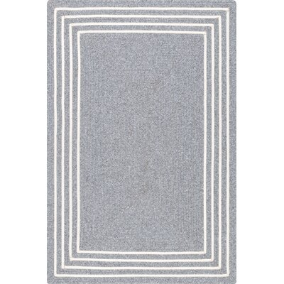 Chesnut Hand-Braided Gray Area Rug Rug Size: Rectangle 5 x 8
