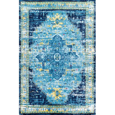 Pensford Blue Area Rug Rug Size: Rectangle 8 x 10