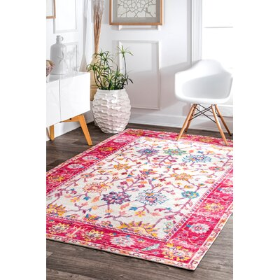 Penrod Pink Area Rug Rug Size: Rectangle 5' x 8'