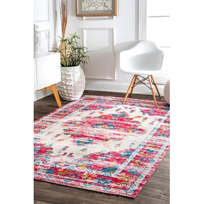 Penrod Pink/Blue Area Rug Rug Size: Rectangle 8' x 10'