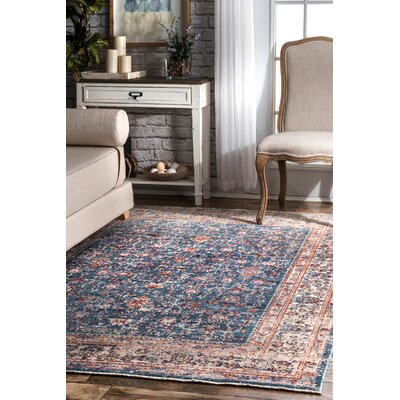 Pensford Blue Area Rug Rug Size: Rectangle 5'3