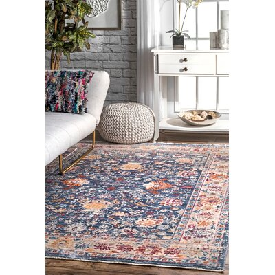 Perdue Navy Area Rug Rug Size: Rectangle 710 x 1010
