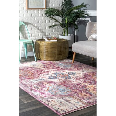 Penrod Pink Area Rug Rug Size: Rectangle 7'10