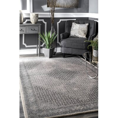 Perlman Hand-Woven Wool Gray Area Rug Rug Size: Rectangle 76 x 96