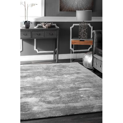 Grindstaff Hand-Woven Gray Area Rug Rug Size: Rectangle 5 x 8