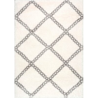 Hance Gray/Cream Area Rug Rug Size: Rectangle 53 x 76