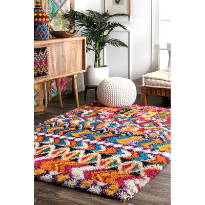 Perrigo Orange/Purple Area Rug Rug Size: Rectangle 710 x 10