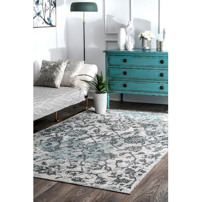 Latrobe Gray Area Rug Rug Size: Rectangle 53 x 8