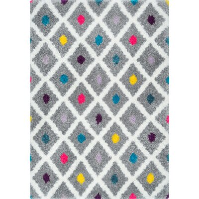 Litzy Gray Area Rug Rug Size: Rectangle 53 x 76
