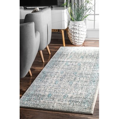 Pereyra Light Blue Area Rug Rug Size: Rectangle 5 x 75