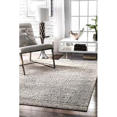 Wideman Light Gray Area Rug Rug Size: Rectangle 5 x 75