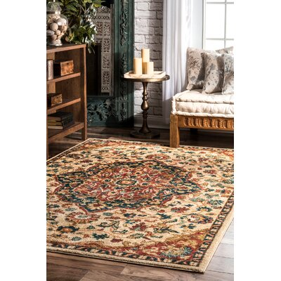 Widcombe Beige Area Rug Rug Size: Rectangle 5 x 75