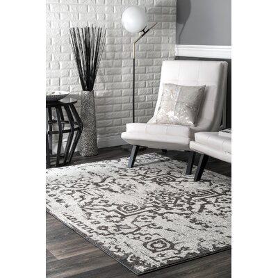 Peterman Light Gray Area Rug Rug Size: Rectangle 5 x 75