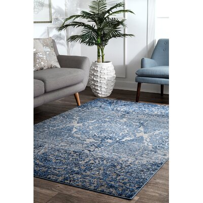 Pensford Blue Area Rug Rug Size: Rectangle 5 x 75
