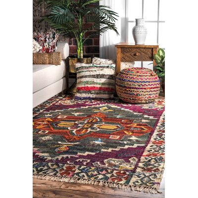 Widener Cotton Purple Area Rug Rug Size: Rectangle 5 x 7