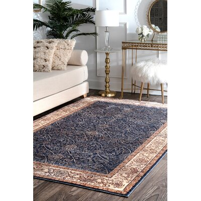 Huffman Navy Area Rug Rug Size: Rectangle 9 x 12