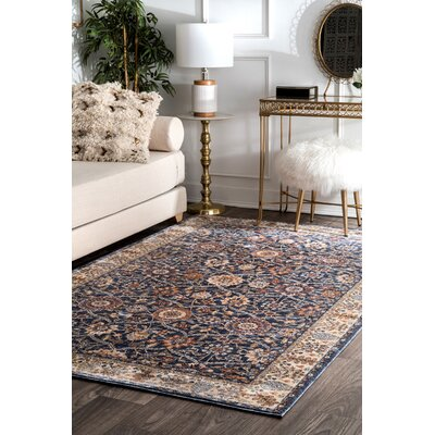 Huffman Navy Area Rug Rug Size: Rectangle 5 x 8