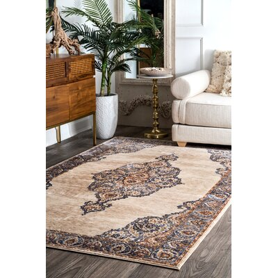Petrella Beige Area Rug Rug Size: Rectangle 4 x 6