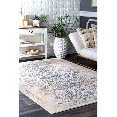 Lattimer Beige Area Rug Rug Size: Rectangle 76 x 96