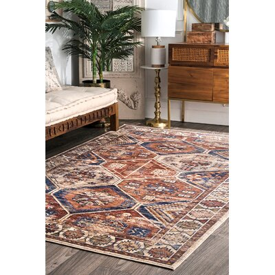 Stave Rust Area Rug Rug Size: Rectangle 76 x 96