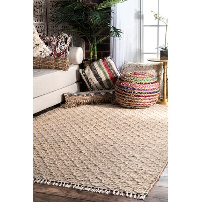 Perlman Hand-Woven Natural Area Rug Rug Size: Rectangle 5 x 8