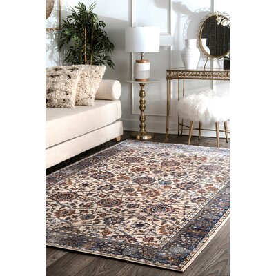 Hufnagel Beige Area Rug Rug Size: Rectangle 76 x 96