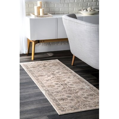 Holahan Beige Area Rug Rug Size: Rectangle 9 x 12