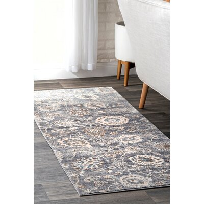 Latrobe Gray Area Rug Rug Size: Rectangle 76 x 96