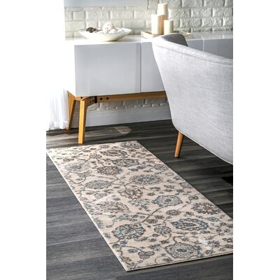 Holahan Beige Area Rug Rug Size: Rectangle 76 x 96