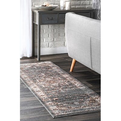 Pennyfield Gray Area Rug Rug Size: Rectangle 4 x 6