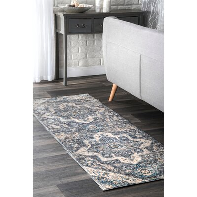 Pennyfield Gray Area Rug Rug Size: Runner 22 x 65