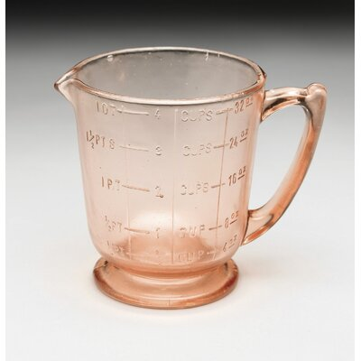 Glass Measuring Cup Color: Pink 16574
