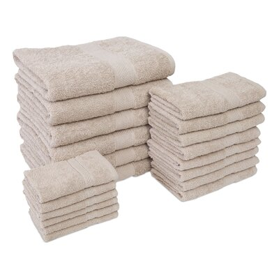 Jumbo 20 Piece Towel Set Color: Linen