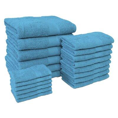 Jumbo 20 Piece Towel Set Color: Teal