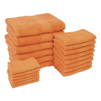 Jumbo 20 Piece Towel Set Color: Orange