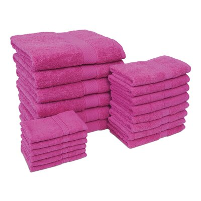 Jumbo 20 Piece Towel Set Color: Lipstick